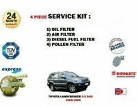 FOR TOYOTA LANDCRUISER 3.0 D4D 1KD-FTV 2006-2009 OIL AIR FUEL POLLEN FILTER KIT