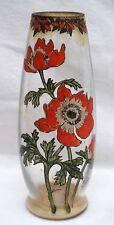 French Art Deco Poppys Enameled Glass Vase Jem Legras