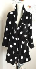 VICTORIAS SECRET BLACK WHITE POLKA DOT BATH SHOWER ROBE WOMENS SZ. XS $60
