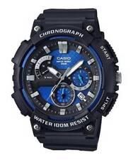Casio Men's Quartz Chronograph Blue Dial Resin Strap 53mm Watch Mcw200h-2av
