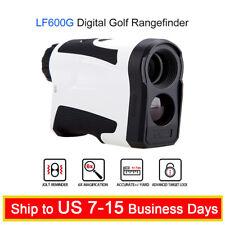 6x 650Yards Hunting Golf Laser Rangefinder Monocular With Flag Lock USB Charging