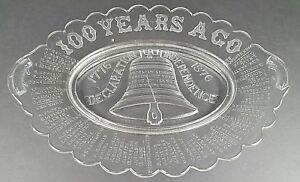 EAPG Adams Glass Liberty Bell Centennial Declaration of Independence Platter