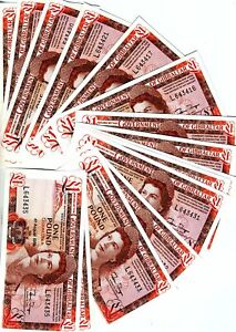 LOT, Gibraltar, 20 x 1 pound, 1988,  P-20e, Young QEII, UNC > The last one pound