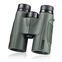 10X42 Compact Waterproof Binoculars Green for Adult Hunting Bird Watching