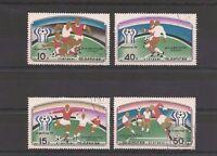 """Lot timbres Corée Koréa """"Foot-ball Argentina 78"""" année 1977"""