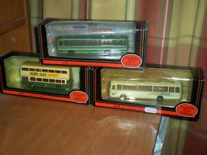 3 x EFE FIRST EDITION COLLECTABLE BUSES SCALE 1:76 (BOXED)