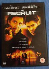 THE RECRUIT: Al Pacino, Colin Farrell CIA Sexy Spy Thriller R2 DVD Free P & P