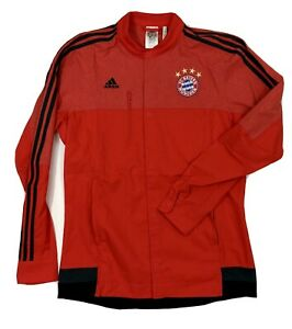 Adidas FC Bayern Munich Soccer Jacket 2014/15 Full-Zip Anthem Jacket Medium