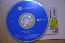 Windows 10 Home 64Bit DVD / CD Vollversion + Win 10 Home Product Key Lizenz OEM