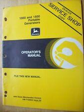Original John Deere 1000 1400 Portable Generators Operators Manual