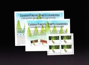 Canada 1990 sc#1285 Coast Forest 39¢ block of 4 & Petro-Canada Sponsorship card