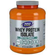NOW Food Whey Protein Isolate-5lbs, Unflavor,clearance for exp date 07/2020