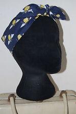 Bumble le api 40 S Land Ragazza Con Fiocco Velo 50 S PIN UP Capelli Turbante Dolly Con Fiocco Blu Scuro