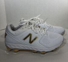 New Balance Fresh Foam Spvelox1 Women's Sz 10 White Gold Softball Cleats Zf-736