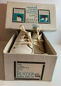 Buster Brown Wikler Shoe Vintage For Infant toddler 4.5E In Original Box (a10)