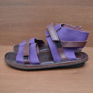 Trippen Womens Leather Purple Sandal Shoes Boots sz 40