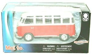 POWER RACER #21001 MAISTO Die-Cast Metal Collection Volkswagen Bus Van VINTAGE