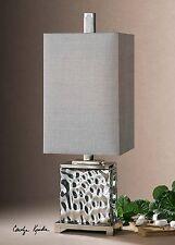 """""""Oscar"""" Silver Glass Table Lamp"""