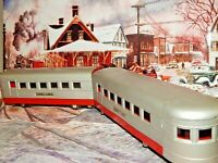 Lionel Lines Pre War O27 Gauge 3 Articulated Beaver Tail? Passenger Cars