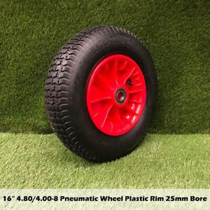 """16"""" 4.80/4.00-8 25mm Bore Wheelbarrow Tyre Wheels Trolley Tyres Pneumatic Wheel"""