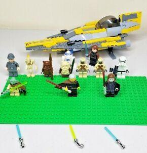 Huge Bulk LEGO STAR WARS Minifigure Lot w/ Accessories YODA ~ ANAKIN ~ R2-D2 +++