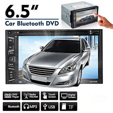 6.5'' Double 2 DIN Car DVD CD Player Radio Stereo Head Unit Bluetooth Touch USB