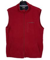 DIADORA   Men's High Neck Fleece Vest   Full Zip   3 Pockets   Red   Size M