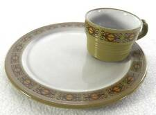 8 Jonas Roberts Painted Sands MAYA 6513 Snack Plate Cup Mug Set GREEN Mikasa