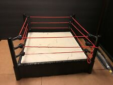 "2010 Action Figure Wrestling Ring 12.5"" Mattel WWE Raw - Break Away Ring  USED"