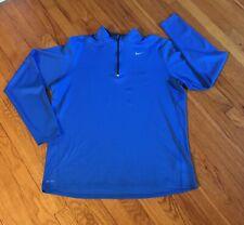 Nike Running Dri-Fit Men's XL Royal Blue 1/4 Zipper