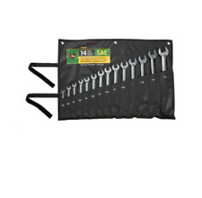 John Deere 14-pc SAE Full-Polished Combination Wrench Set Product #TY19976