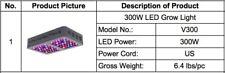 VIPARSPECTRA 300W LED Grow Light Full Spectrum Veg Bloom