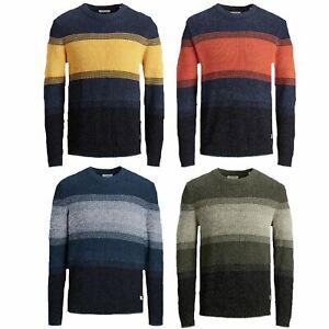 Jack & Jones Striped knitted Pullover Men's Jumper Classic Crew Neck Men Sweater