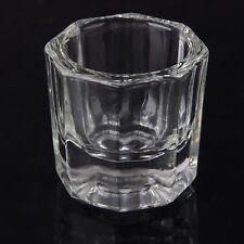 1pcs Glass Crystal Bowl Cup Dappen Dish Arcylic Nail Art Liquid Powder Container