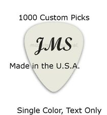 Personalized Guitar Picks Custom 1000 Picks Text Single Color You Choose Text