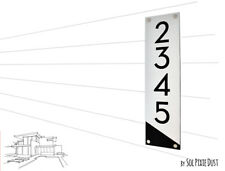 Modern House Numbers ,Alucobond with Black Acrylic-Vertical-3-Contemporary-Home