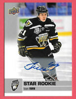 2019-20 Ivan Ivan Upper Deck CHL Star Rookie Auto - Cape Breton Eagles