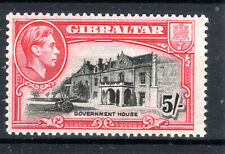 Gibraltar KGVI MNH  5/- P13  SG 129b Cat £42  1944+  [G0121]]