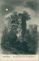 Ansichtskarte Heidelberg gesprengte Turm bei Mondschein 1907 (Nr.936)