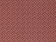 REMEMBER WHEN CIVIL WAR REPRODUCTION RED CREAM FLOWER COTTON QUILT SEWING FABRIC