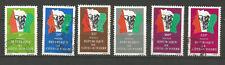 Côte-d'Ivoire années 80 6 timbres oblitérés drapeau nation avec éléphant /T5058