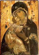 More details for orthodox russian icon virgin mary, mother of jesus, vladimirskaya made in russia