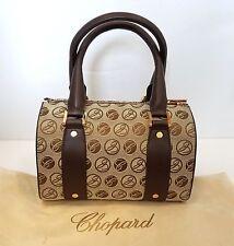Chopard Brown Milano Mini Leather-Trim Canvas Handbag, New!  MSRP  $1,270