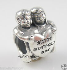 FROM US Genuine PANDORA Kids CHILDREN Silver HAPPY MOTHER'S DAY Heart Charm/Bead