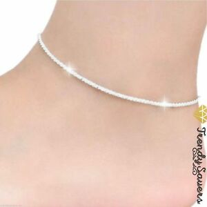 Women's Stunning Hemp Rope Sexy Silver Anklet Foot Chain Ankle Bracelet