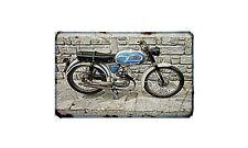 Bianchi Gardena Motorbike Sign Metal Retro Aged Aluminium Bike