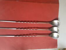 3 stunning long ice cream spoon with a decorative twisted handle