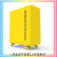 Q3056-Y Small Form Factor Mini-ITX PC Case, Computer Case with Bottom Yellow