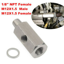 "1/8""NPT Oil Pressure Sensor Tee to M12x1.5 Adapter Turbo Supply Feed Line Gauge"