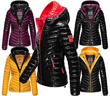 Navahoo Damen Winter Jacke Steppjacke Outdoor FVS4 Glänzend Kapuze  LENNJAA